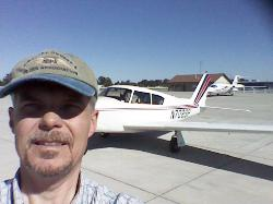 Fuel stop in Nebraska, Ferrying a Comanche from Sacramento to Chicago